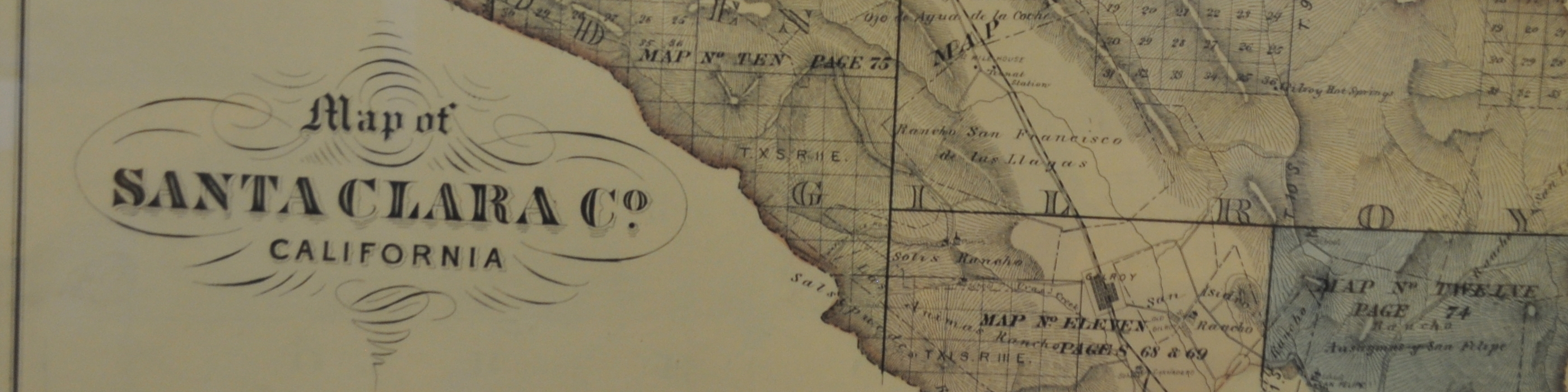Old map of Santa Clara County